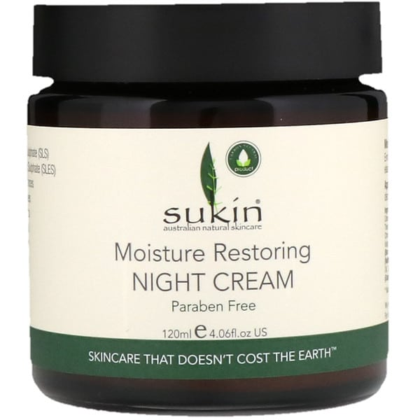 Sukin, Moisture Restoring Night Cream, 4.06 fl oz (120 ml)