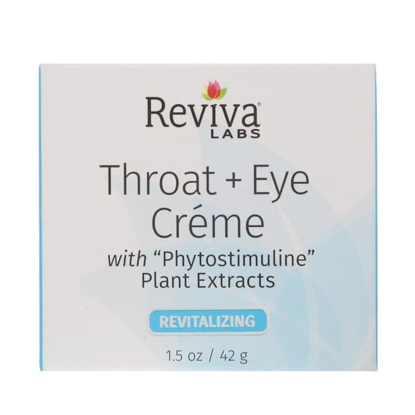 Reviva Labs, Throat + Eye Cream, 1.5 oz (41 g)