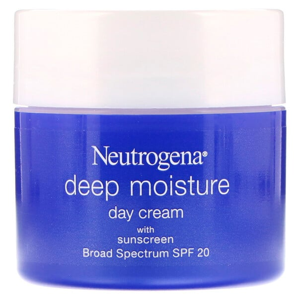 Neutrogena, Deep Moisture, Day Cream with Sunscreen, Broad Spectrum SPF 20, 2.25 oz (63 g)