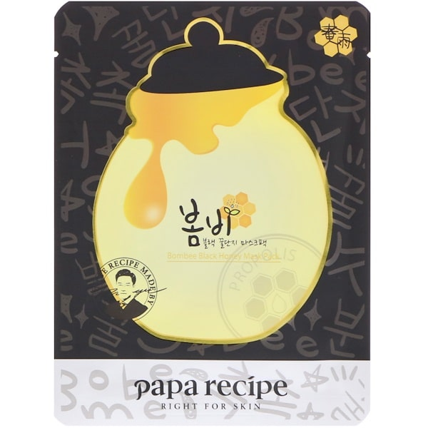 Papa Recipe, Bombee Black Honey Mask Pack, 10 Sheets, 25 g Each